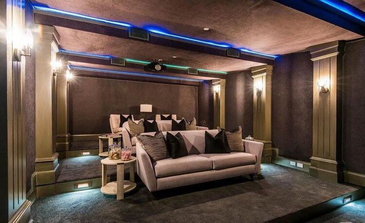 Modern Home Theater Interior